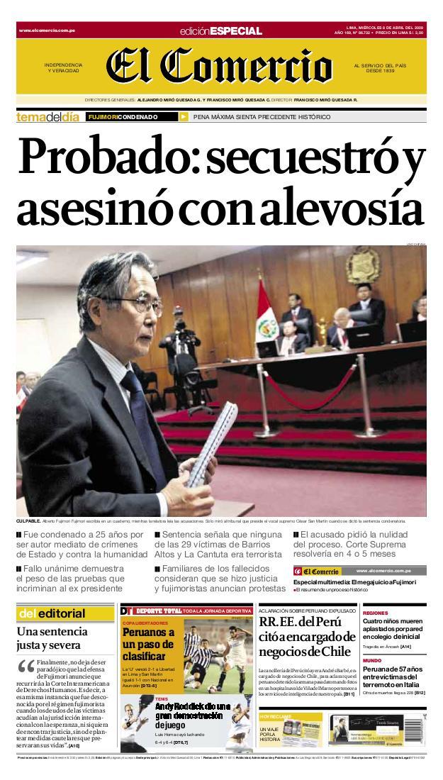 EC Condena Fujimori
